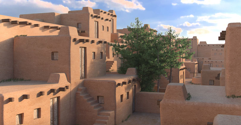 <I> Реконструкція середньовічного житлового кварталу </ i>