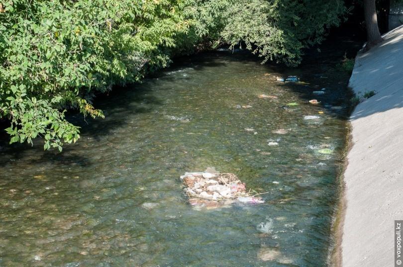 Русло реки Карасу за базаром «Колос»