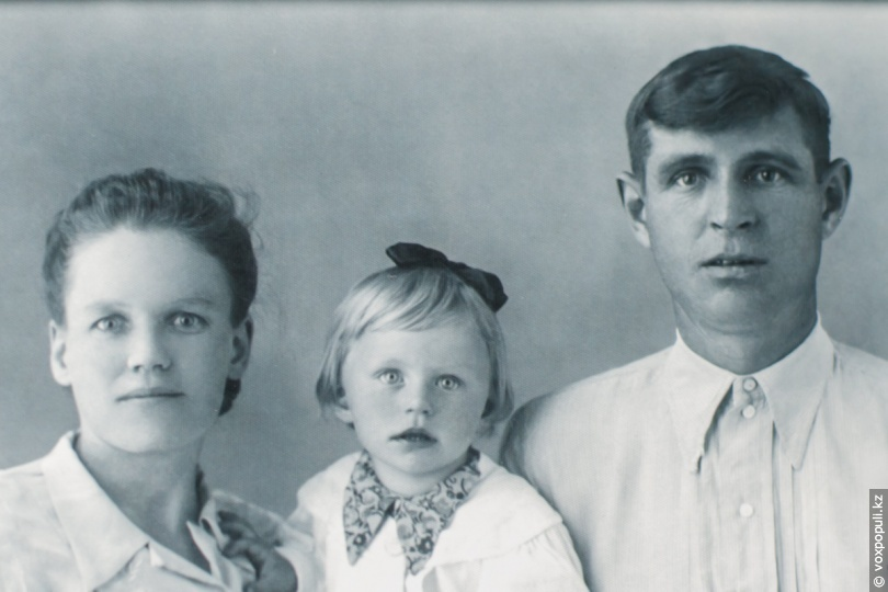 Капитолина Васильевна с супругом Фёдором и дочерью Тамарой