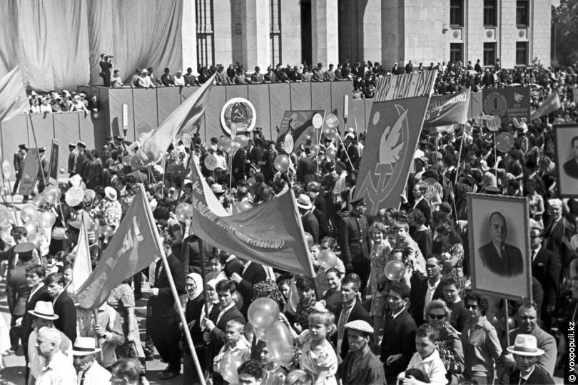 Першотравнева демонстрація в Алма-Аті