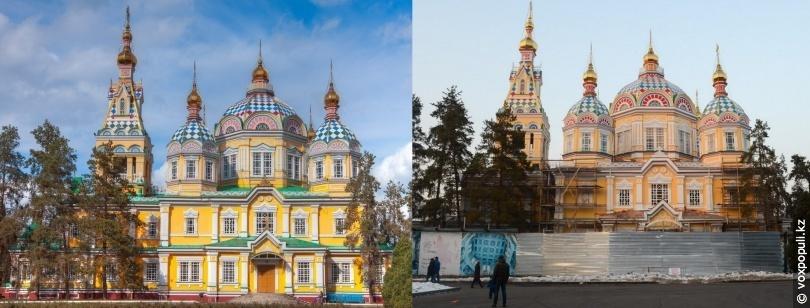 Собор до и после реставрации