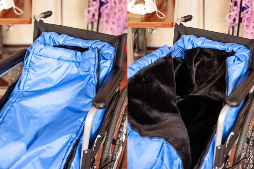 Теплозащитный мешок для инвалидов-колясочников