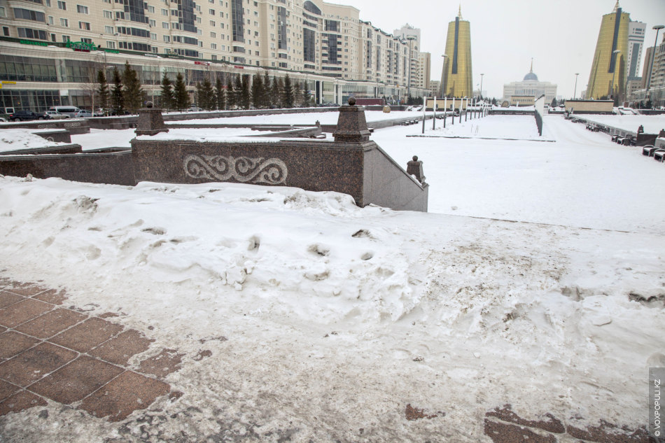 Картинки красивые астаны зимой