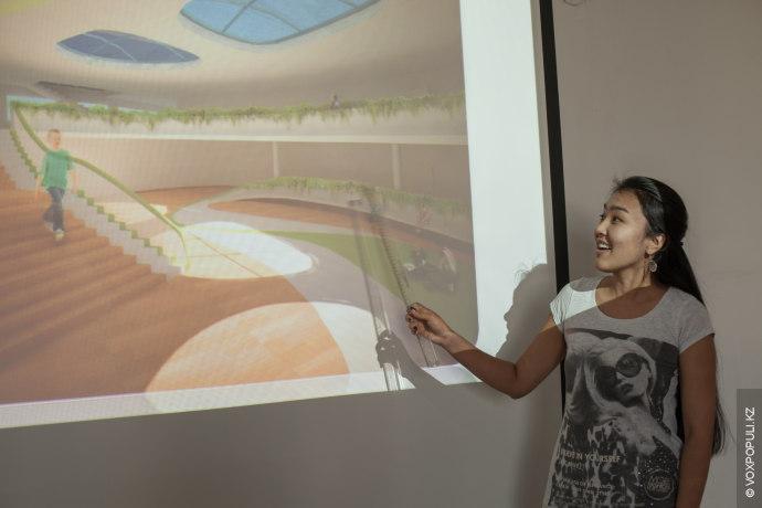 Эльфия Хамзина и Асем Молдакалык, студентки пятого курса архитектурного факультета, в рамках конкурса международной компании...