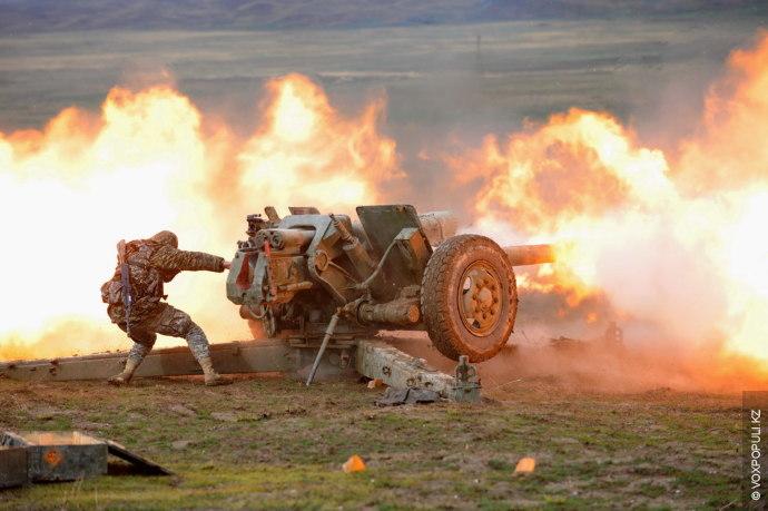 На полигоне «Матыбула» 40-й военной базы «Отар», расположенной в Гвардейском гарнизоне Жамбылской области, в период...