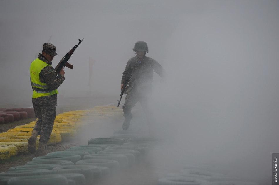 Преодоление полосы в дымовой завесе