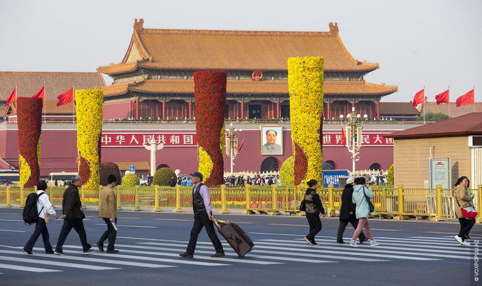 Символическое сердце китайской нации – площадь Тяньаньмэнь