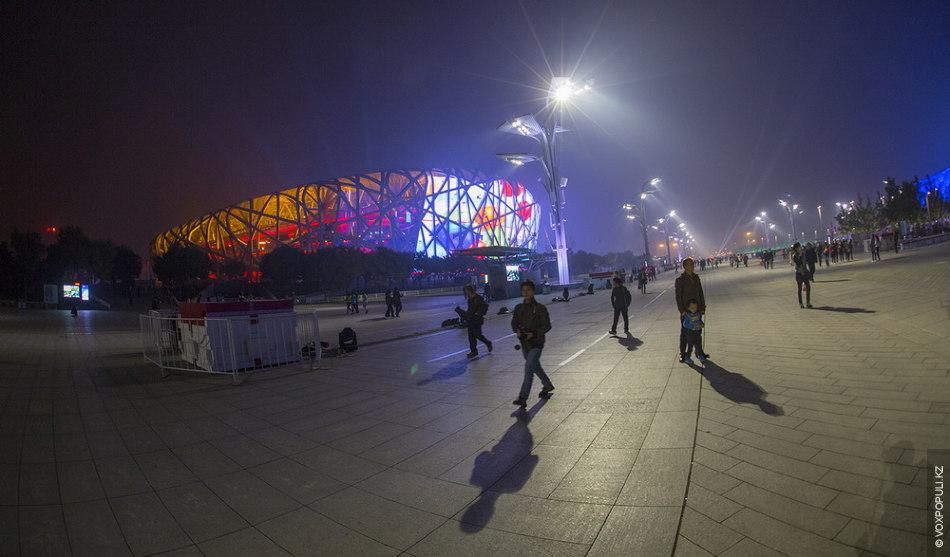 Знаменитый стадион Пекина, более известный как «Ласточкино гнездо»