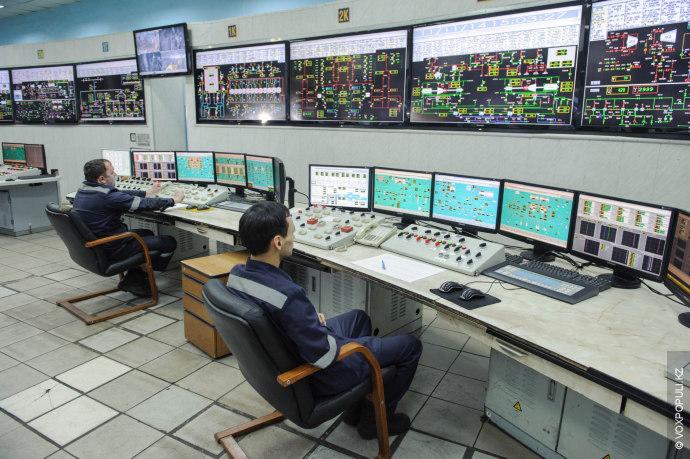 Здесь ведется наблюдение за работой станции и энергоблоков.