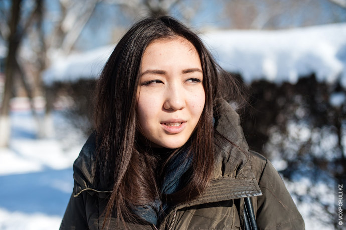 Айжан Конарбаева, 20 лет, студентка КазНУ им. Аль-Фараби, факультет журналистики.  Почти все ее время уходит на...