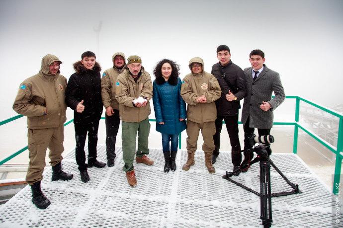 Посетили участники экспедиции и комплекс лыжных трамплинов, его возвели специально к Азиаде в 2011 году....