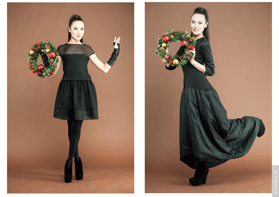 В новогоднюю ночь не рекомендуется надевать одежду с яркими принтами.  – Маленькое черное платье (42000 тенге)...