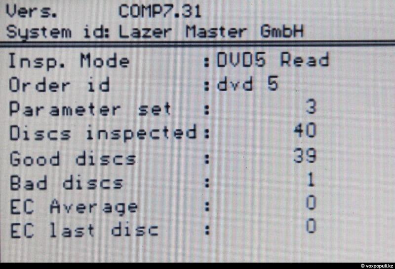 Производится тест поверхности диска лазером. Из 40 дисков машина забраковала один. Минимальная партия одного фильма...