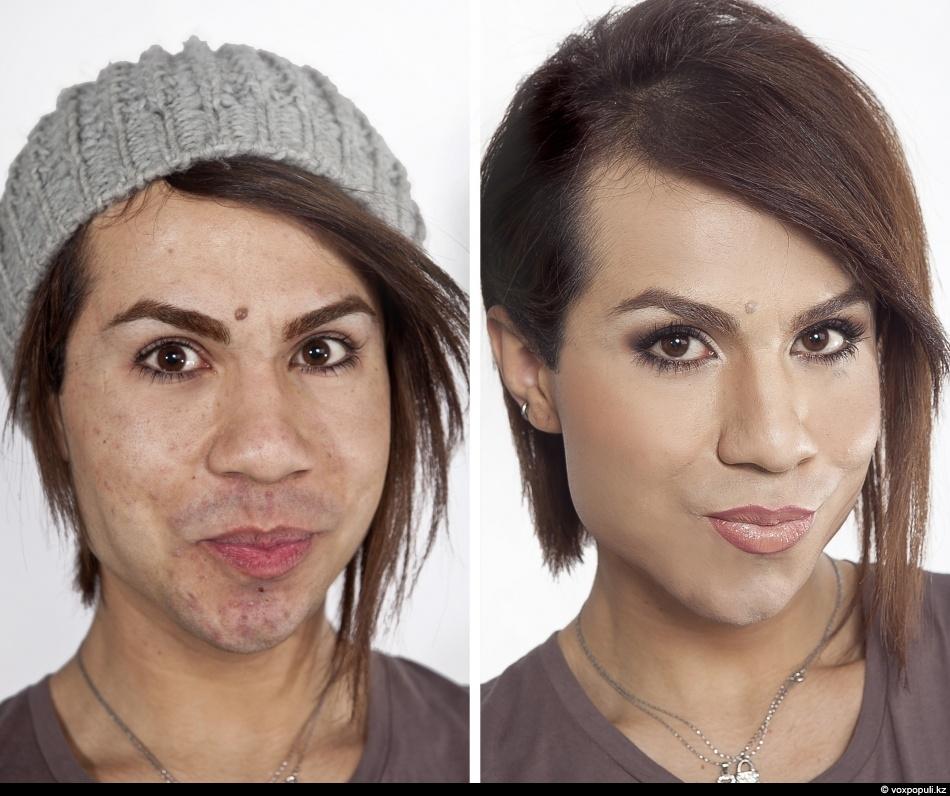 Страшные девушки с косметикой