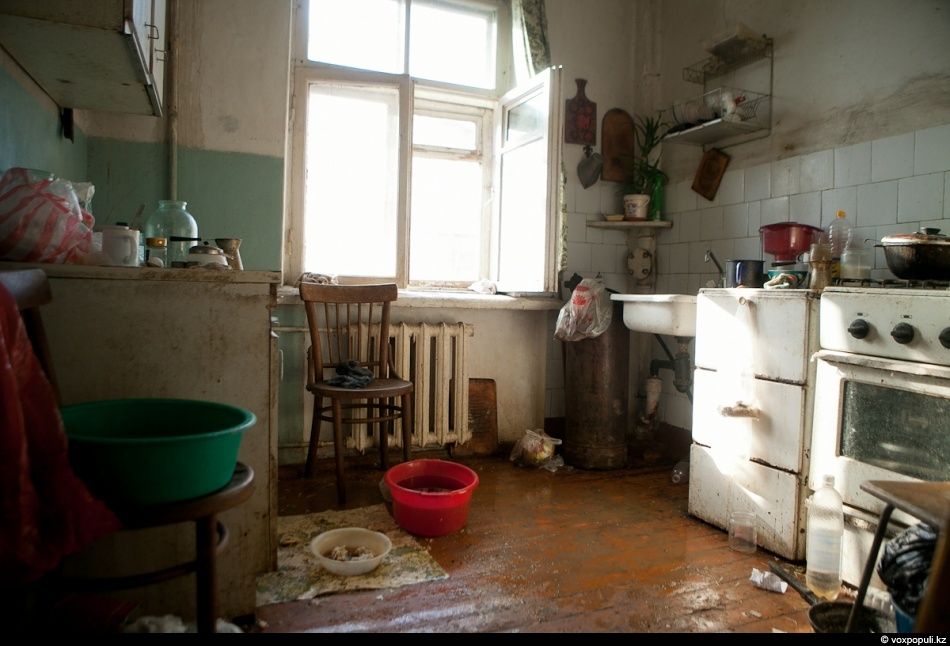 For now Lyudmila Georgiyevna has to live like this. She is all alone.