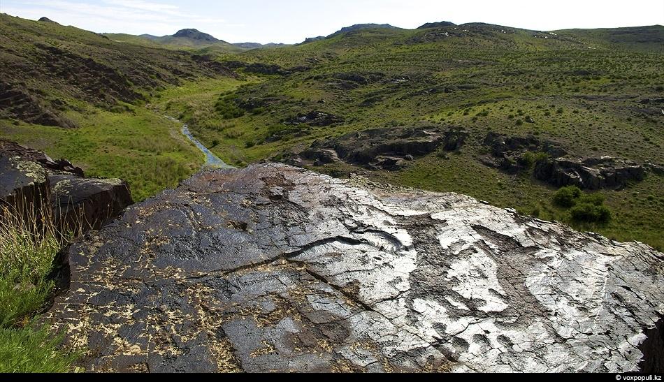 Этим петроглифам эпохи бронзы более трех тысячелетий. Древний кочевник изобразил на поверхности камня схватку двух...