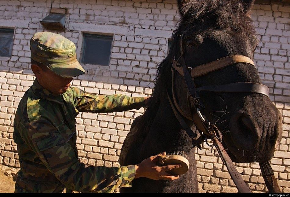 Рядовой Нуржан Баймуханов, 20 лет, из Кызылорды:«Дома есть небольшое хозяйство с лошадьми, поэтому с детства...