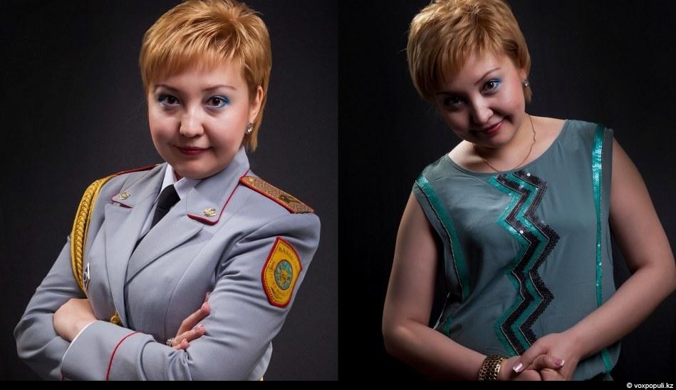 Гаухар Аргынгазина, Актюбинская областьСтаршина полиции управления дорожной полиции ДВД Актюбинской области